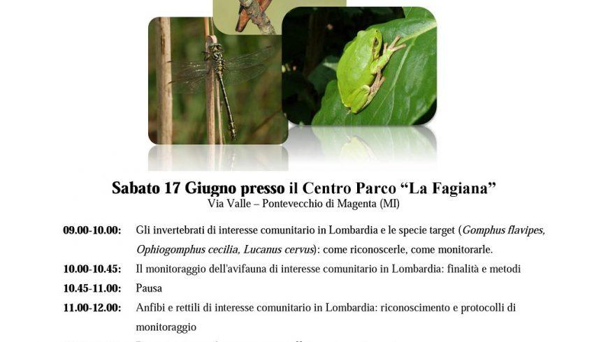 Seminario su monitoraggio di invertebrati, uccelli, anfibi e rettili di interesse comunitario – Parco Ticino
