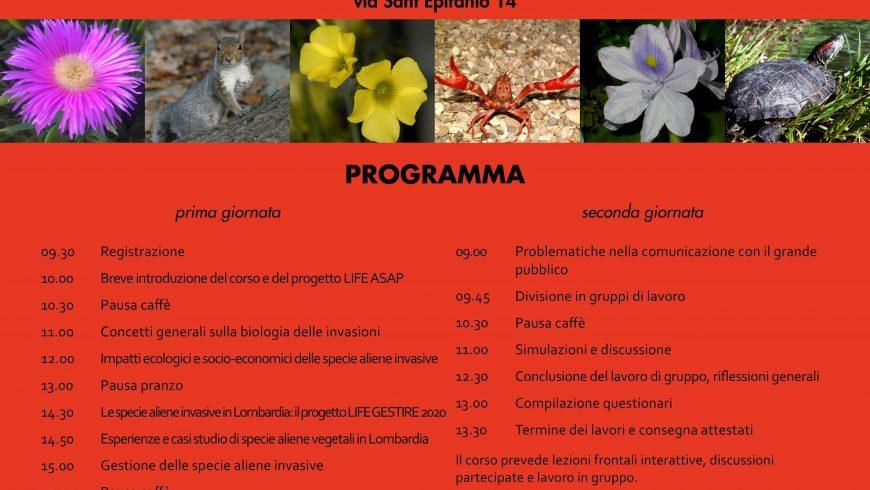 Corso formazione su specie aliene invasive: come comunicare al grande pubblico (PV)