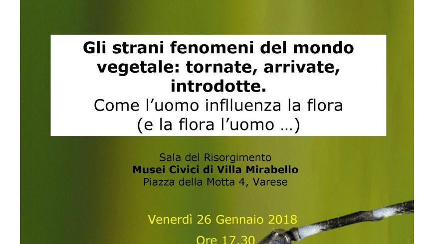 Gli strani fenomeni del mondo vegetale: tornate, arrivate, introdotte – Varese