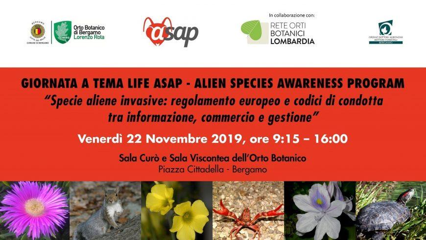 Specie aliene invasive: regolamento europeo e codici di condotta – Bergamo