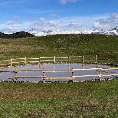 Inaugurate due nuove pozze di abbeverata in Valseriana. Benefici per l'attività pascoliva e per la tutela della biodiversità