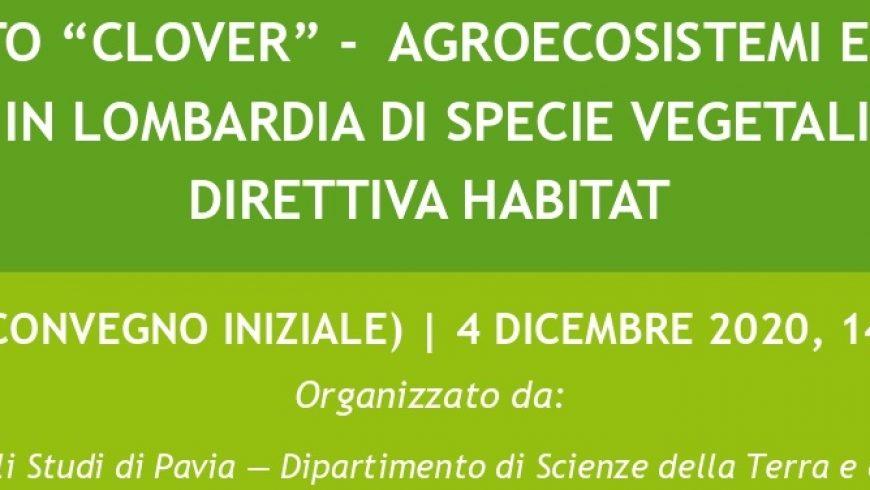 """Progetto """"Clover"""": agroecosistemi e conservazione in Lombardia di specie vegetali rare – Webinar"""
