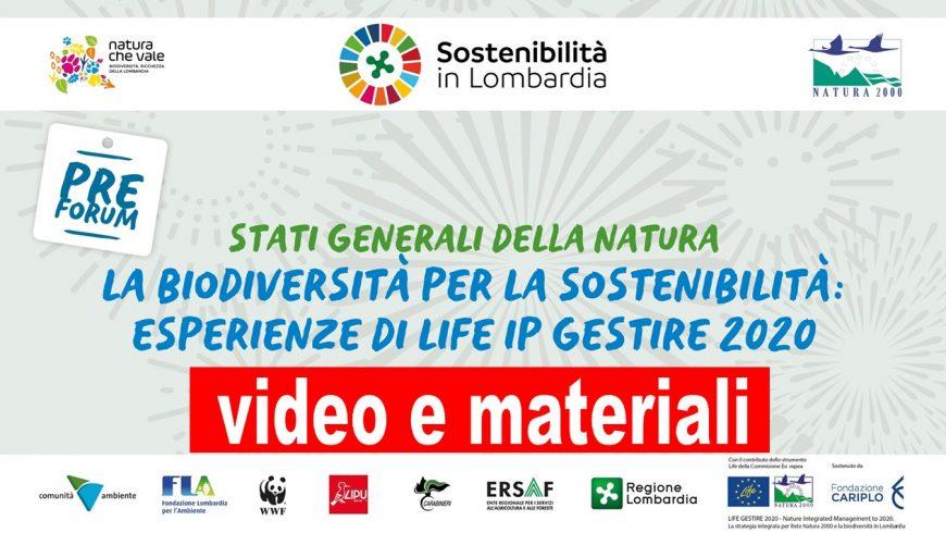 Disponibili video e materiali degli Stati generali di Natura 2000 del 18 novembre