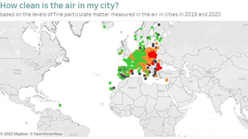 Quanto è pulita l'aria nella mia città? Verifica con la nuova mappa visuale europea della qualità dell'aria urbana
